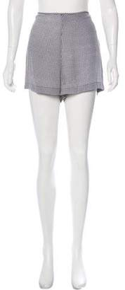Equipment Silk Gingham Shorts