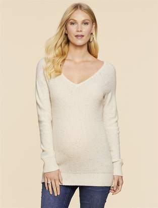 Jessica Simpson Motherhood Maternity Lurex Stitching Maternity Sweater