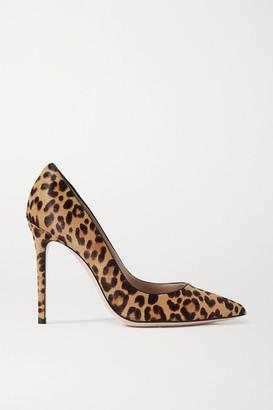 Gianvito Rossi 105 Leopard-print Calf Hair Pumps - Leopard print