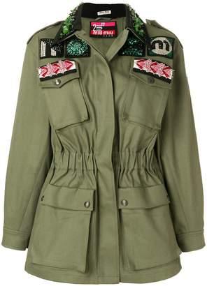 Miu Miu bead and crystal-embellished jacket