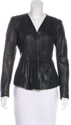Armani Collezioni Ruched Long Sleeve Jacket
