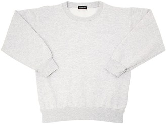 Balenciaga Logo Embroidered Cotton Sweatshirt