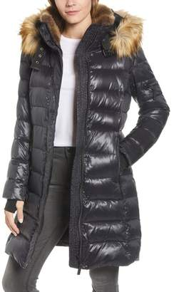 S13 Uptown Down & Feather Fill Faux Fur Quilted Parka