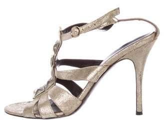 Fendi Embellished Multistrap Sandals