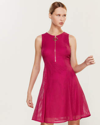 DKNY Laser Cut Zipper Dress