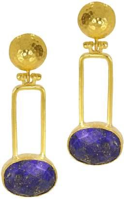 Lapis Ottoman Hands - Kandinsky Drop Earrings