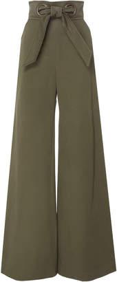 Martin Grant Wide-Leg Cotton Trousers