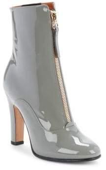 Valentino Leather Zipper Boots
