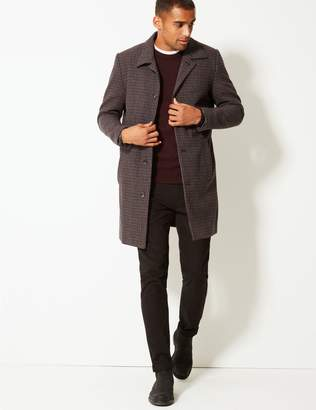 Marks and Spencer Overcoat with Wool