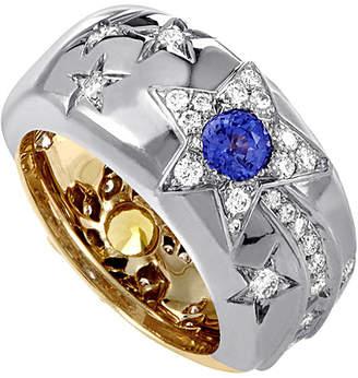 Chanel Heritage  18K Two-Tone Diamond & Sapphire Ring