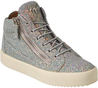 Giuseppe Zanotti Glitter Leather High-Top Sneaker