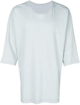 Issey Miyake Homme Plissé plain oversize T-shirt