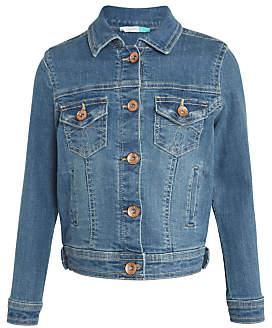 John Lewis Girls' Denim Jacket, Blue