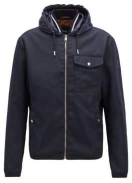 BOSS Hugo Relaxed-fit jacket a knitted inner collar 44R Dark Blue