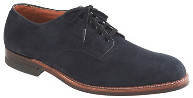 Alden Limited-edition navy for J.Crew oxfords with waterlock sole