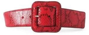 Fashion Focus Snakeskin Printed Buckle Belt