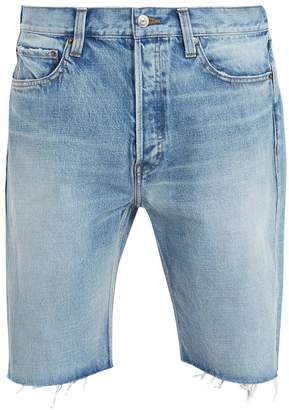 Balenciaga Raw-edge denim shorts