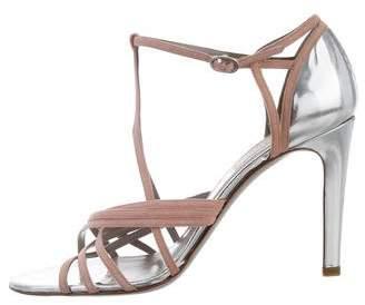 Valentino Suede Multi Strap Sandals
