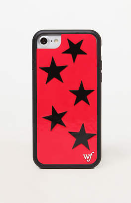 Wildflower Red Vinyl Star 6/7/8 iPhone Case