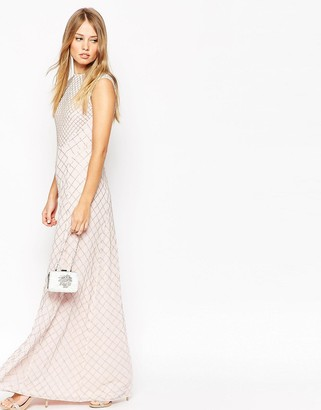 Needle & Thread Circle Mesh Embellished Maxi Dress $364 thestylecure.com