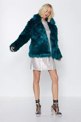 Nasty Gal Go Fur It Faux Fur Coat