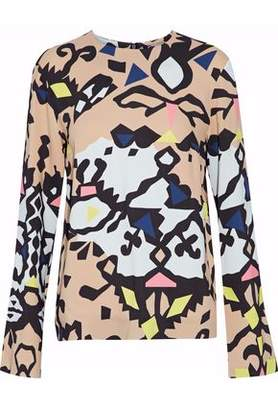 MSGM Printed Cady Top