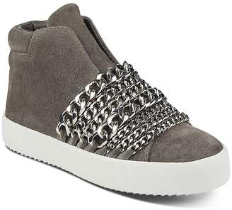 KENDALL + KYLIE Women's Duke Suede & Chain Trim Sneakers