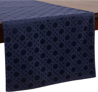 """Kate Spade Cafe Caning 15"""" x 72"""" French Navy Table Runner"""