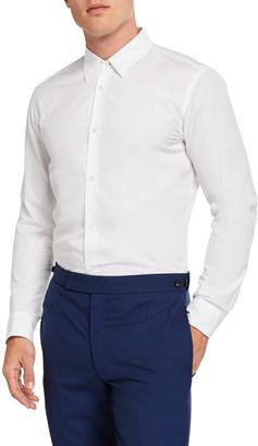 Gabriela Hearst Men's Quevedo Solid-Color Sport Shirt