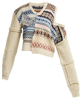Preen by Thornton Bregazzi Kyra Fair Isle Knit Wool Sweater - Womens - Ivory Multi
