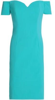 Badgley Mischka Off-The-Shoulder Stretch-Cady Dress
