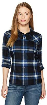 Pendleton Women's Petite Size Christina Ultrafine Merino Plaid Shirt