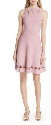 Ted Baker Bow Detail Knit Fit & Flare Dress