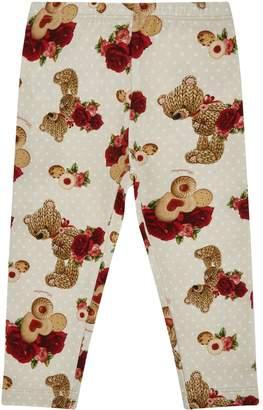 MonnaLisa Bear Print Leggings