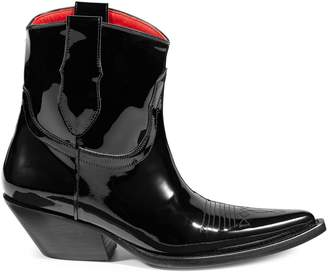 Maison Margiela Patent Leather Cowboy Boots
