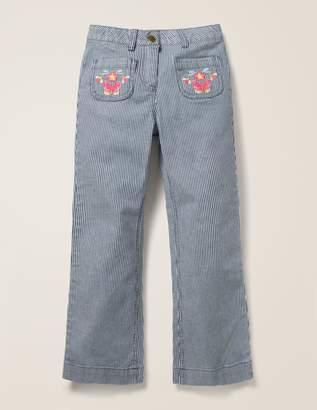 Boden Embroidered Pocket Jeans