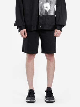 Raf Simons MEN'S BLACK WASHED DENIM SHORTS