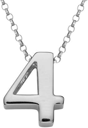 Sweet Sentiments Sterling Silver Number Charm Necklace