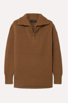 Nili Lotan Beni Ribbed Cashmere Sweater - Brown
