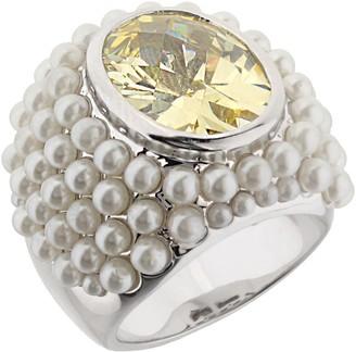 Ralph Lauren G. Adams G Adams Silvertone Cultured Pearl Cluster Cocktail Ring