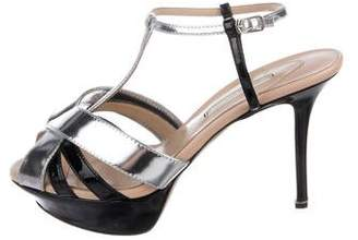 Nicholas Kirkwood Patent Leather Platform Sandals