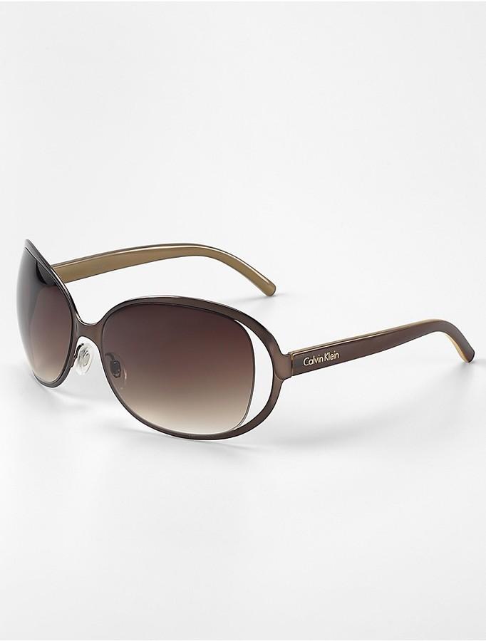 Calvin KleinShield + Link Sunglasses