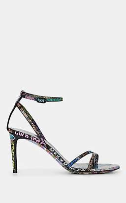 3045850556a9 Balenciaga Women s Graffiti-Print Leather Sandals - Black