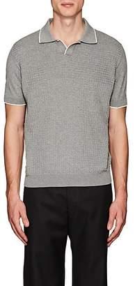 Barneys New York Men's Contrast-Tipped Cotton Polo Shirt - Light Gray