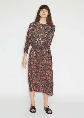 Anntian Simple Silk Crepe Printed Dress
