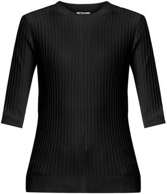 Acne Studios Iza ribbed-knit cotton-blend top