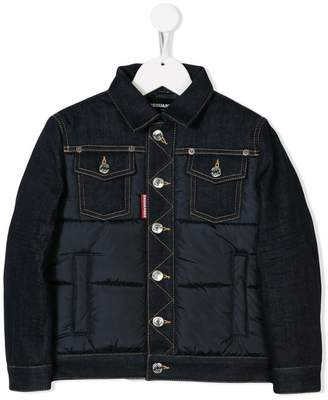 DSQUARED2 padded panel denim jacket