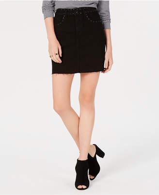 Emery Studded Denim Mini Skirt, Created for Macy's