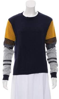 Cable Stitch Medium-Weight Knit Sweater Navy Cable Stitch Medium-Weight Knit Sweater