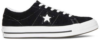 Converse Black Suede Vintage One Star Sneakers